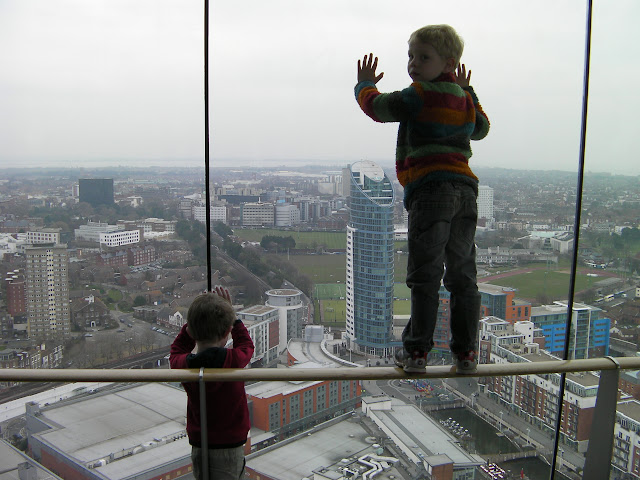 no fear of heights. giant glass windows