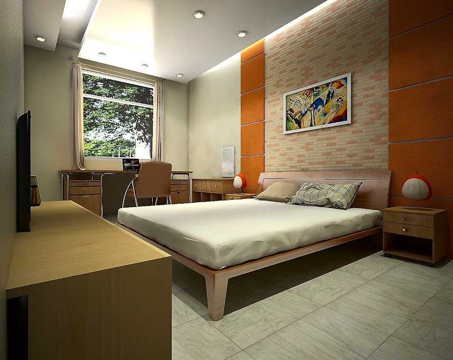 A Simple Bedroom Free Stuffs For Sketchup Vray