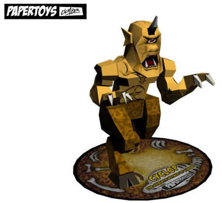 Cyclops Papercraft