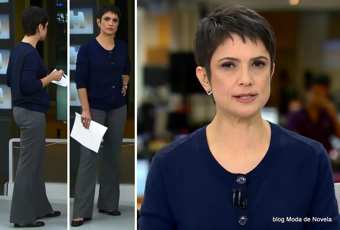 moda do programa Jornal Hoje - look da Sandra Annenberg dia 21 de maio