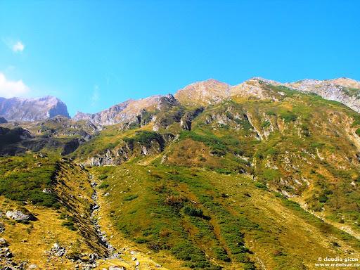 clipele de senin se înmulţesc pe măsură ce altitudinea scade - versant cu jnepeni şi ienuperi