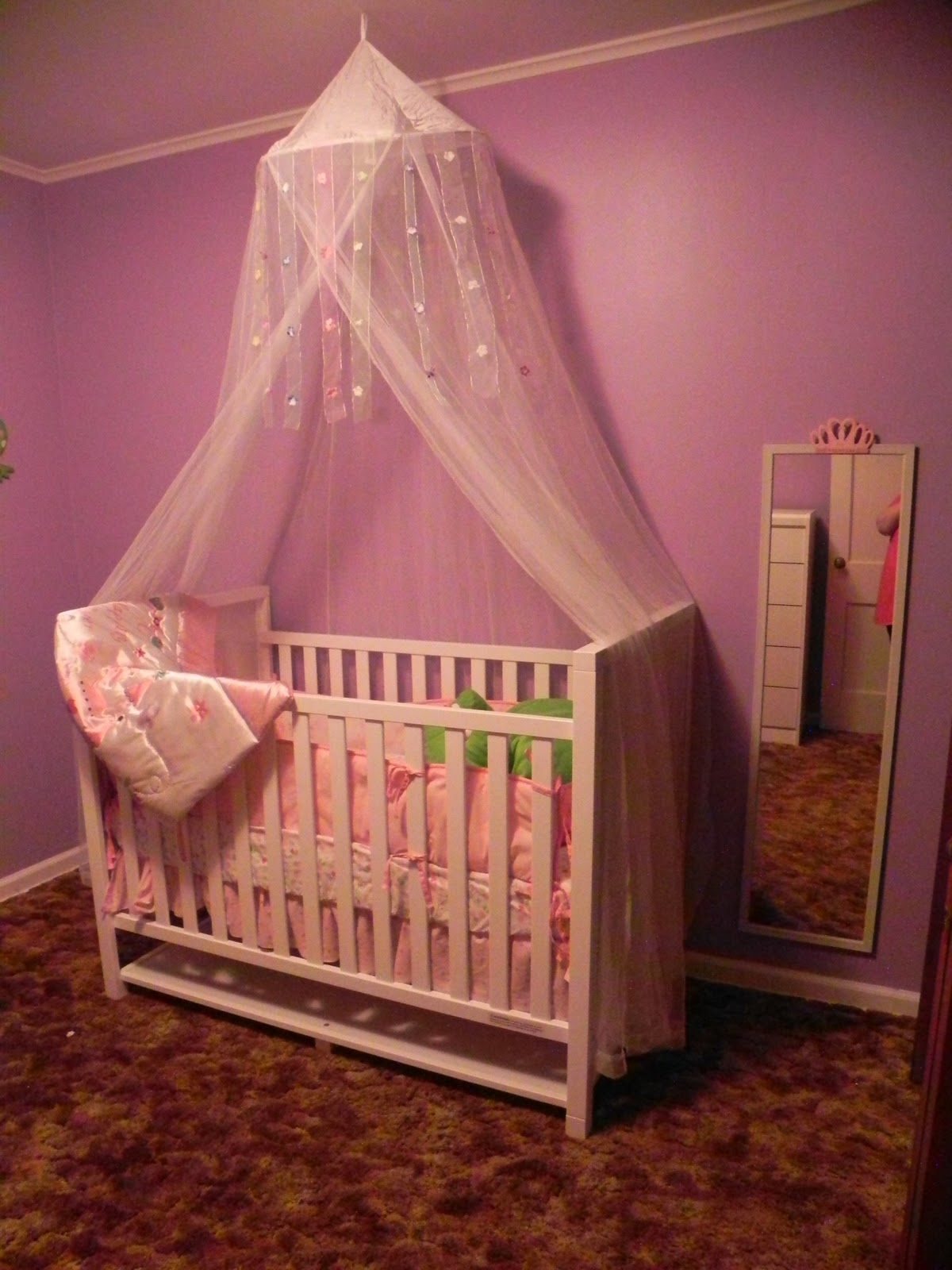 Little precious moments in time march 2011 for Canopy over crib