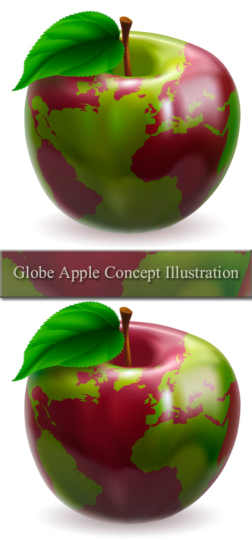 Stock: Globe Apple Concept Illustration