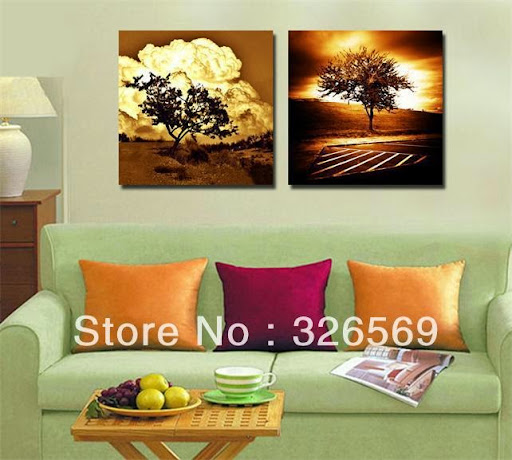 Europe clouds and tree wall art Canvas Prints Classical