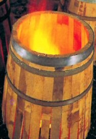 Ψήσιμο ξύλινου βαρελιού κρασιού (κρασοβάρελου) Garbellotto