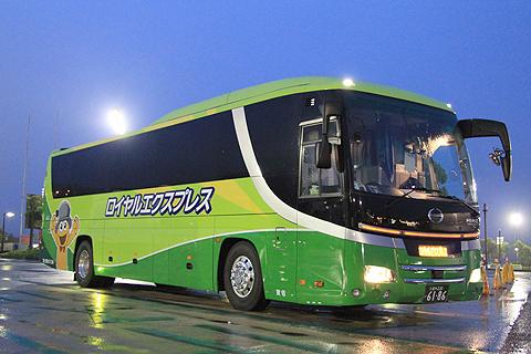 富士観光バス「ロイヤルエクスプレス」東京便 浜名湖SAにて