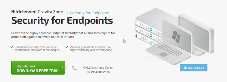 Bitdefender Endpoint Security 5.3 homepage, Aug 2014