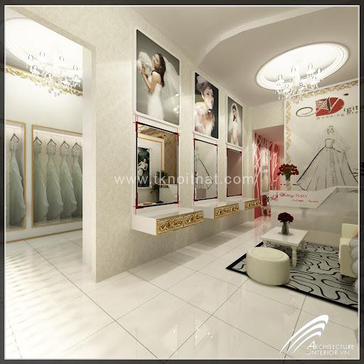 Thiết kế showroom áo cưới Ngọc Dung, thiet ke noi that ao cuoi, thiet ke cua hang ao cuoi, thiet ke noi that