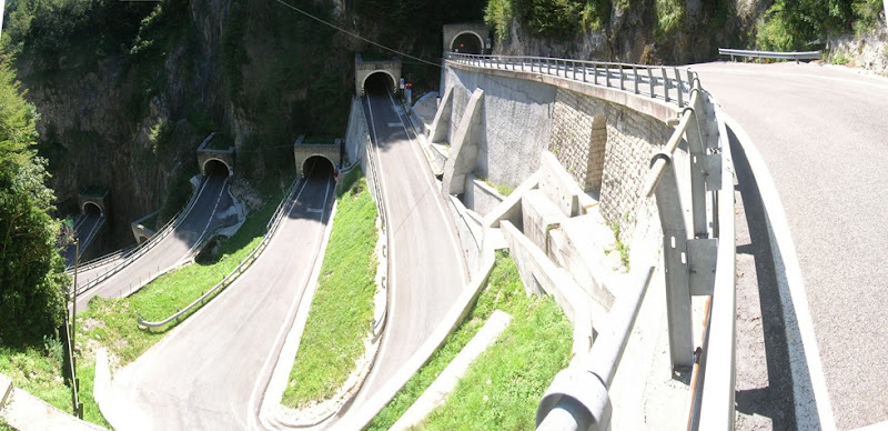 I tornanti e le rampe di Passo San Boldo