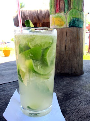 Caipirinha at Guarajuba Beach in Bahia Brazil