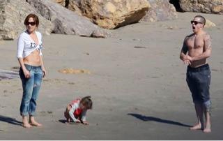 J.Lo & Casper & kids in Malibu