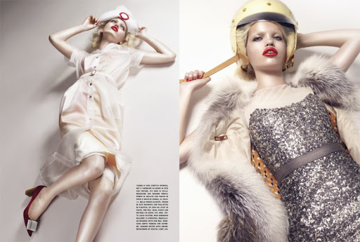 Daphne Groeneveld in Louis Vuitton by Sølve Sundsbø for Vogue Italia September 2011