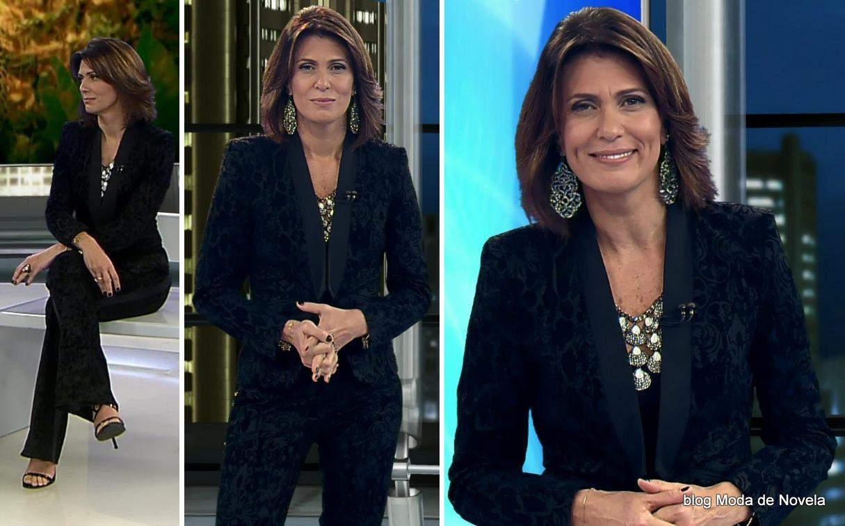 moda do programa Domingo Espetacular - look da Janine Borba dia 15 de junho