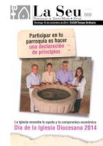 Hoja Parroquial Nº560 - Día de la Iglesia Diocesana 2014. Iglesia Colegial Basílica de Santa María de Xàtiva - Sexto aniversario de la erección de la colegiata.