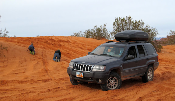 Playing on some sand dunes in Warner Valley
