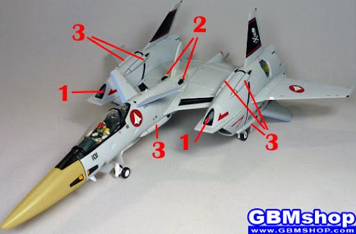 Macross Flashback 2012 VF-4 Lightning III Armament weapon position