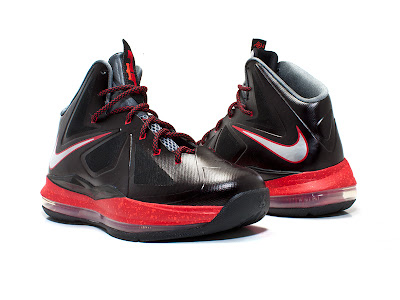 nike lebron 10 gs black red 2 01 Kids Nike LeBron X GS   Black and Red   Available Early