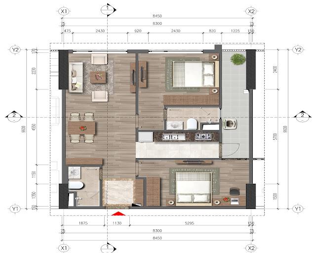 Tiết kế chi tiết căn hộ