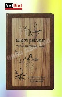 Menu bìa gỗ- Menu bìa da (LH: 0903 320 106)