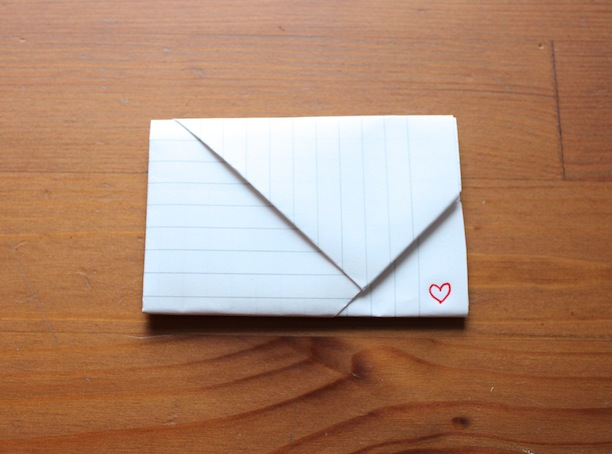 how to fold origami notes for valentines day like you did in junior high and middle school