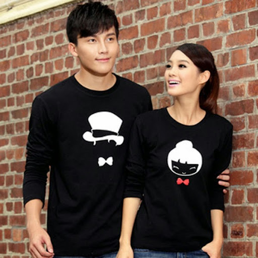 Casual Long Sleeve Shirt for Men and Women Couple Shirt