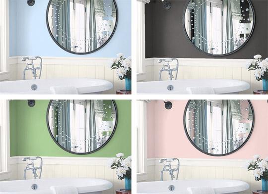 wandgestaltung mit farbe ein tool f r tolle farbideen dekomilch. Black Bedroom Furniture Sets. Home Design Ideas
