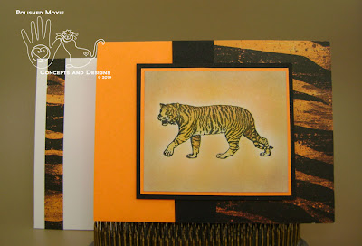 Picture of tiger card and its coordinating envelope