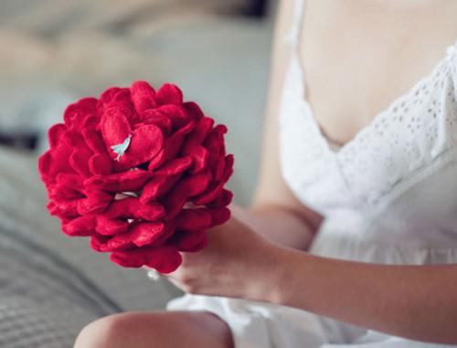 Inspiração: buquê de noiva feito com feltro