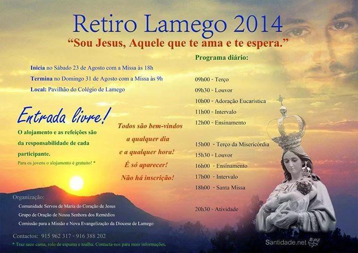 Retiro Lamego 2014 - 23 a 31 a Agosto
