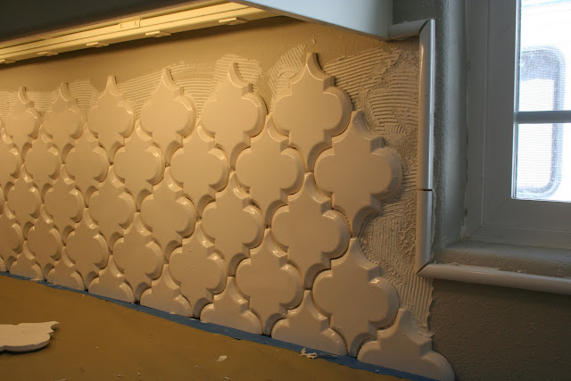 Pic Heavy Beveled Arabesque Is Being Install As I Type