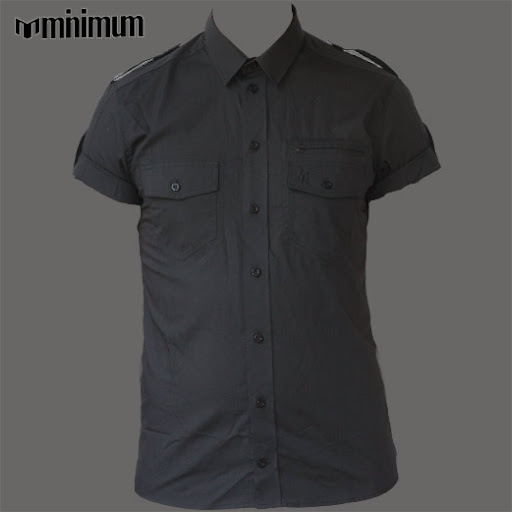 Camasa Minimum Black super Slim Fit