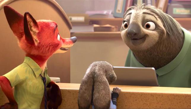 Il bradipo, uno dei personaggi più iconici di Zootropolis