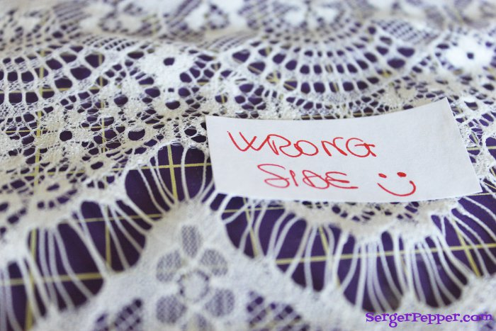 Serger Pepper - Sewing Lace like a Pro - 40+ best tips - stickers