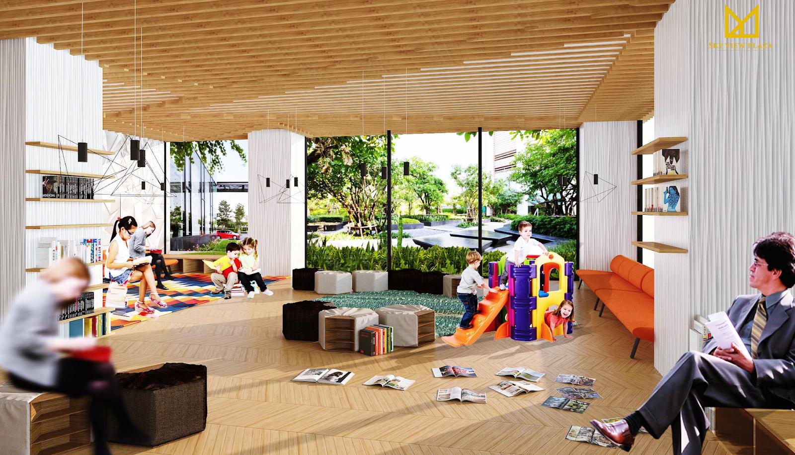Phòng sinh hoạt cộng đồng dự án Sky View Plaza