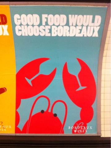 Lobster and Bordeaux Advertisement