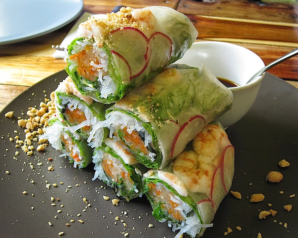 Earth Kitchen's Prawn Spring Rolls