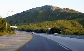 Road passing form Kallar Kahar mountains.
