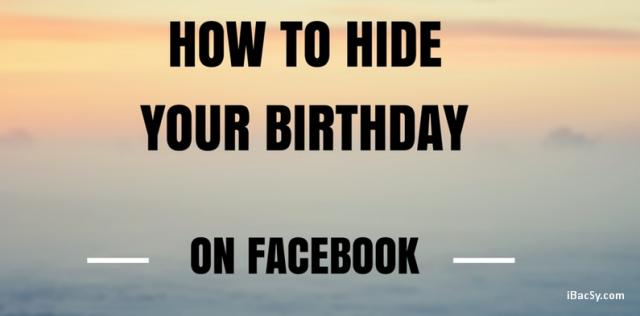 ẩn ngày sinh trên facebook