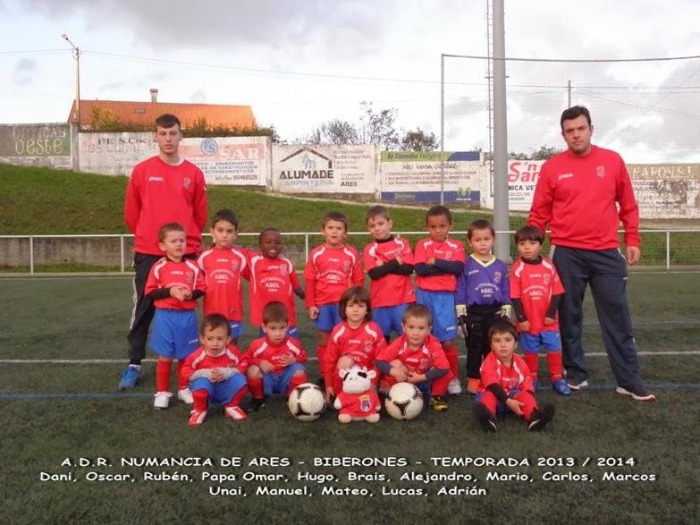 Numancia de Ares. Equipo biberón temporada 2013-2014
