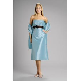 Sweet Heart Light Blue Mother Of The Bride Silk Cooktail Sort Dress On ...