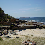 Looking back along the rockshelves at Shelley Beach (32936)