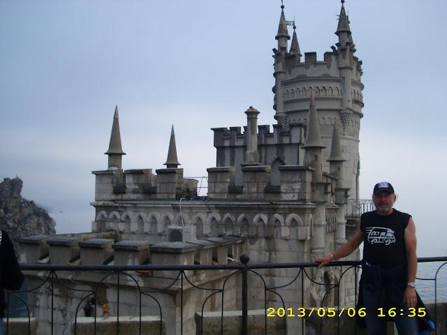 """Ukraina - Krym – zamek """"Jaskółcze gniazdo ( Haspra)"""