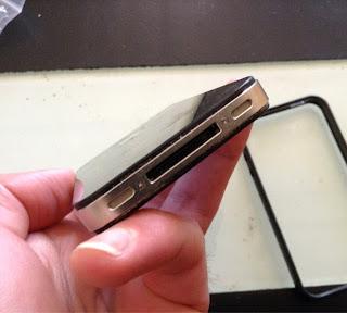 Iphone 4 tornillos para su apertura