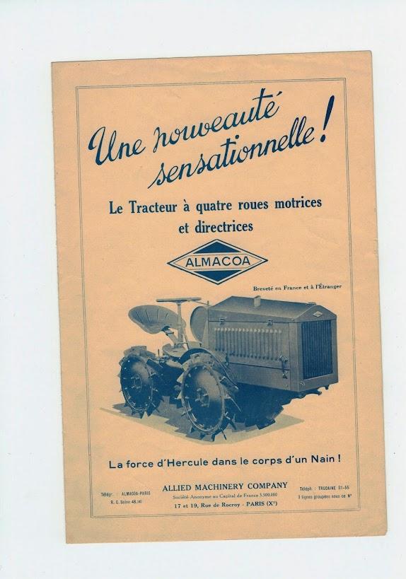 TRACTEUR - ALMACOA....le 1er tracteur 4x4 de petite taille CCI24032015