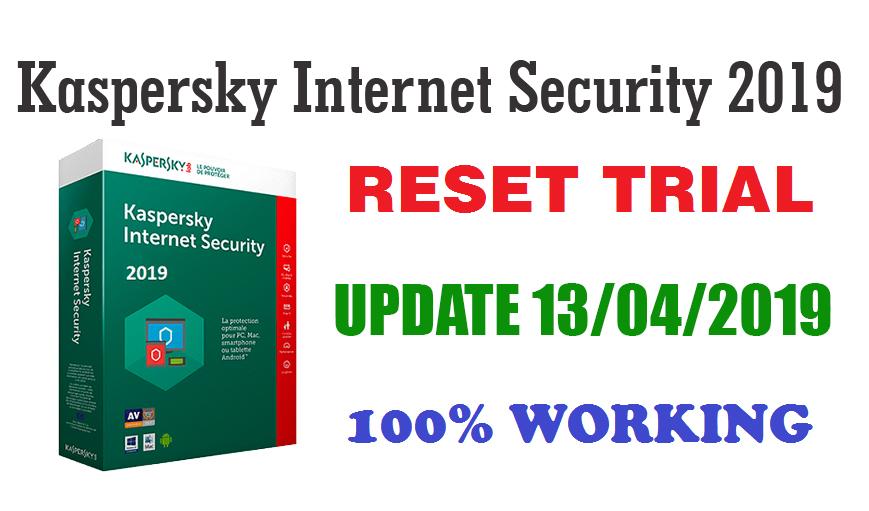 Kaspersky Internet Security 2019 Reset Trial Latest KRT Tool Update