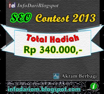 Banner Kontes SEO 2013 InfoDariBlogspot dan Akram Berbagi