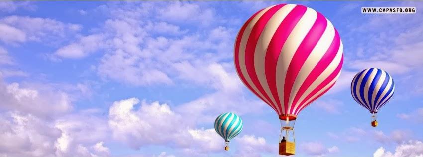 Capas para Facebook Balões