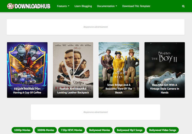 Downloadhub blogger template Free Download