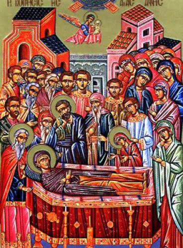 Dormition Of The Righteous Anna The Mother Of The Most Holy Theotokos