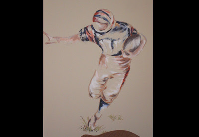 Football player for teen boy's room.
